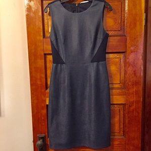 T Tahari Blue & Navy Mesh Fit & Flare Dress Size 4